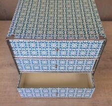 NIEUW! HEMA Ladenblok met 3 laden blauw/wit (2 stuks)
