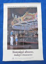 """Mass.Historical-""""Carousel Horse Poster"""" Merry Go Round-Amusement Parks-Great!"""
