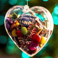 X10 a forma di cuore chiaro Fillable contenitori 80mm regalo di san valentino idea