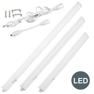 Unterbau-Leuchte LED 230V Lichtleiste Küchen-Lampe Beleuchtung Schrankleuchte DE