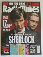 RADIO TIMES 31 DEC 2016 SHERLOCK HOLMES BENEDICT CUMBERBATCH DOCTOR WHO MAGAZINE
