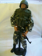 21 Centry toys 2000 Russian Paratrooper/ combat soldier with winter camo.