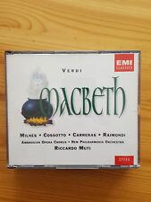 Verdi: Macbeth. Milnes, Cossotto, Raimondi, Carreras, Muti. 2 CDs