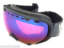 BLOC med/ large PYTHON rimless ski snowboard Goggles MAT BLACK/ Blue Mirror PY16
