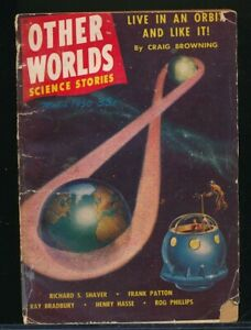 OTHER WORLDS SCIENCE STORIES March 1950 SciFi Pulp Digest RAY BRADBURY