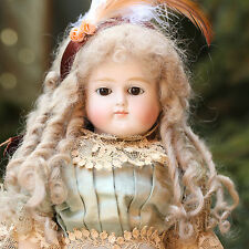 FASHION DOLL BELTON 1880 CLOSED MOUTH  ADORABLE BISQUE DOLL IN SILK DRESS