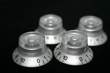 4 PCS Gibson Top Hat Knob Replacement Silver w/ Black Numbers. USA SELLER!!!