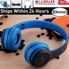 Wireless Bluetooth Headphones Over Ear Stereo Earphone Headset Foldable Mic Fm