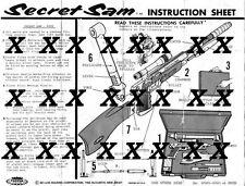 1965 SECRET SAM ATTACHE CASE SET INSTRUCTIONS BY TOPPER