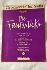 Fantasticks Sheet Music Vintage Selections Vocal Guitar Broadway Sing 1960 Song