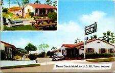 Postcard AR Yuma Desert Sands Motel - Highway 80 Classic Car 1964 A19
