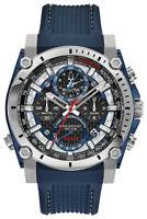 Bulova Precisionist Men's Quartz Chronograph Tachymeter 46mm Watch 98B315