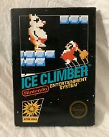 ICE CLIMBER (Nintendo NES, 1985) UNPUNCHED Game Black Box Complete CIB NEAR MINT