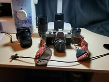 Minolta SRT 101 35mm Camera With 3 Lenses