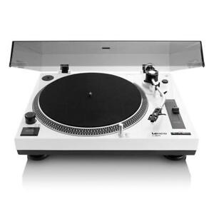 Lenco L-3808, 33 & 45 RPM Direct Drive USB Turntable, Vinyl Record Player