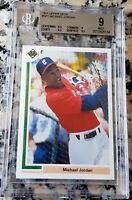 MICHAEL JORDAN 1991 Upper Deck SP1 BGS 9 9.5 Rookie Card RC Baseball WHITE SOX