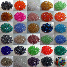 Wholesale 100-1000pcs 4mm/6mm Top quality Crystal Bicone Glass Loose Bead
