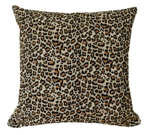 AL212a Black Light Brown Leopard Cotton Canvas Cushion Cover/Pillow*Custom Size*