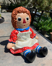 Vintage ceramic1970's Raggedy Ann decor/ nursery / baby shower / book end