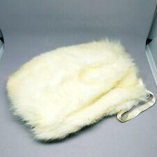 "New listing Vtg Fur Muff Hand Warmer with Satin Lining and Wrist Strap 10"" x 7"" Rabbit?"