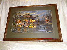 """Dave Barnhouse """"Small Town Service"""" Limited Edition Framed Signed Print #201 COA"""