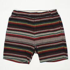 Takashi Kumagai Naissance Mens Shorts M Black Red Green Gray Stripe Cotton Japan