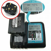 Rapid Battery Charger for Makita BL1830 BL1840 BL1850 7.2V-18V 3A LCD Display