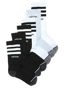 Adidas 3 STRIPE KIDS' ANKLE SOCKS - 6 PACK - Medium 13C - 4Y