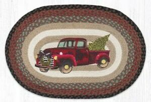 Christmas Truck 20 x 30 Oval Rug by Earth Rugs