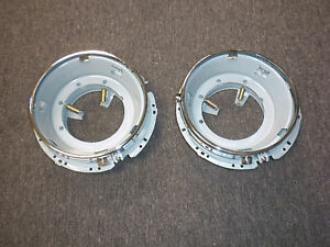 HEADLIGHT BUCKET ASSEMBLY FITS VOLKSWAGEN TYPE1 TYPE2 TYPE3 GHIA THING 2PCS