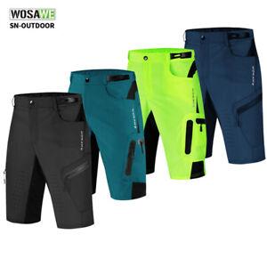 Herren Baggy Radhose MTB Mountainbike Shorts Reißverschluss Taschen Freizeithose