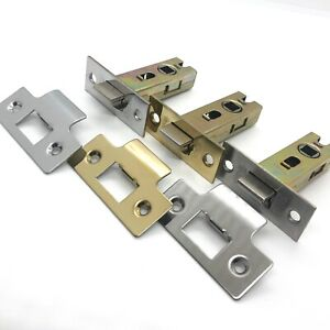 Tubular Door Latch Mechanism 64mm or 76mm in Chrome, Brass and Stainless Steel