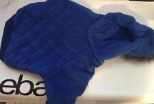 Snooty Dog Coat Spring Blue Soft Plush. Fur Lined Hood Poly Lining 95 10-14 inch