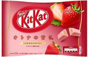 Japanese Kit-Kat Mini Strawberry Flavour 12 Bars Japan Chocolate