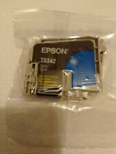 Epson T0342 Genuine Cyan Ink Cartridge  ~ UNUSED VACUUM SEALED
