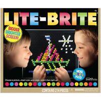 LITE-BRITE Magic Screen Set 200+ Pegs & 6 Templates Light Bright Box