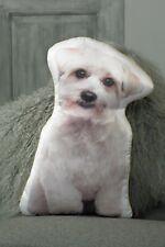 More details for maltese cushion dog shaped gift/present