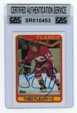 Theo Fleury 1990-91 Topps Autographed Signed Card #386 CAS Authentic