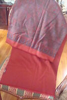 """GUCCI made in Italy, double face scarf , 60"""" long, luxurious silk & cashemere"""