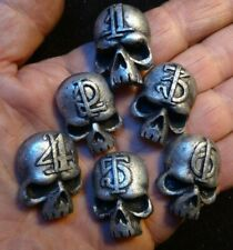 Warhammer Skull markers with High Gothic Numbers