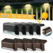 4X/6X Solar LED Path Deck Lights Outdoor Stair Step Landscape Lamp Garden Fence