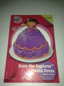 DORA THE EXPLORER DORA FIESTA DRESS SIGNATURE PETITE CAKE TOPPER (DECOPAC) NEW