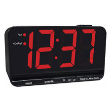 "New Equity 3"" Large Easy to Read LED Display Alarm Clock with Brightness Adjust"