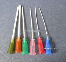 "PP Blunt flexible dispensing needles syringe needle tips 1.5"" 6pcs 14Ga-25Ga"