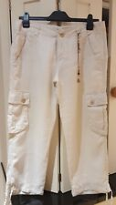MEXX Ladies Crop Linen Trousers Size 14 -New