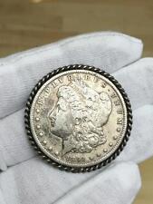 1891 United States Morgan Dollar Sterling Silver Coin Medal Token Pin Brooch
