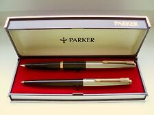 "PARKER ""45 ""  STANDARD DE LUXE SET; in BLACK;  GOLDNIB !  ! in ORIGINAL BOX ! !"