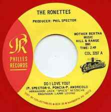 RONETTES ~ DO I LOVE YOU / CHAPEL OF LOVE - '64 / '63 -- RED VINYL PHILLES 45