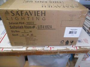 "SAFAVIEH LIGHTING CLARA 3-LIGHT CHROME CEILING DRUM LIGHT 16""x16""x11.25 NEW"