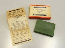 Vintage NORTON ABRASIVES Safety Blade Hone